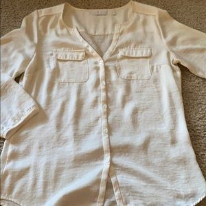 New York & Co. Cream Blouse Size Small